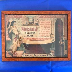 French, retro, Bathroom Sales Poster